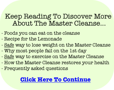 Discover the safe way to lose weight fast with the Master Cleanse
